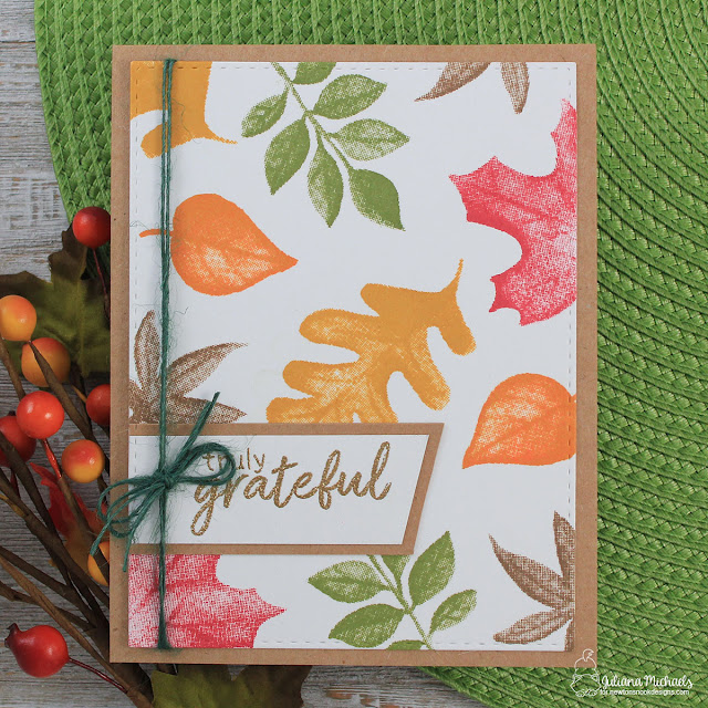 Truly Grateful Card by Juliana Michaels featuring Shades of Autumn Stamp Set by Newton's Nook Designs