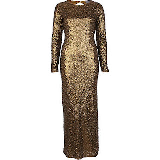 River Island, Gold Dress