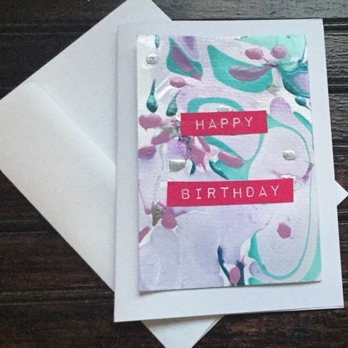 diy marbled card