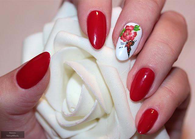 paznokcie hybrydowe manicure i-nails x-hybrid 05 love red
