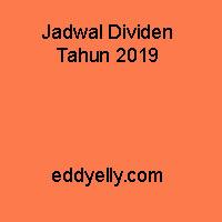 Jadwal Dividen Tahun 2019