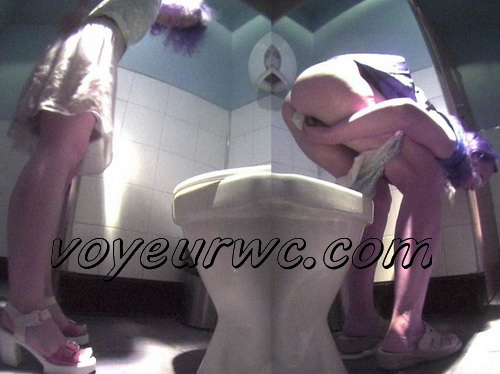 Hidden camera in fast food restaurant in the women's restroom and pissing girl (Fast Food Toilet 21)