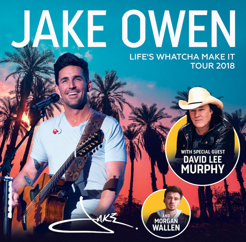 Jake Owen Together With David Lee Murphy And Morgan Wallen On Tour