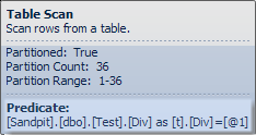 Table scan predicate