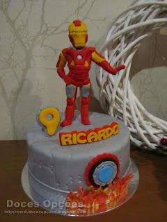 Bolo de aniversário Iron Man