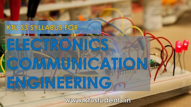 S3 B Tech Syllabus For Electronics And Communication Ktu