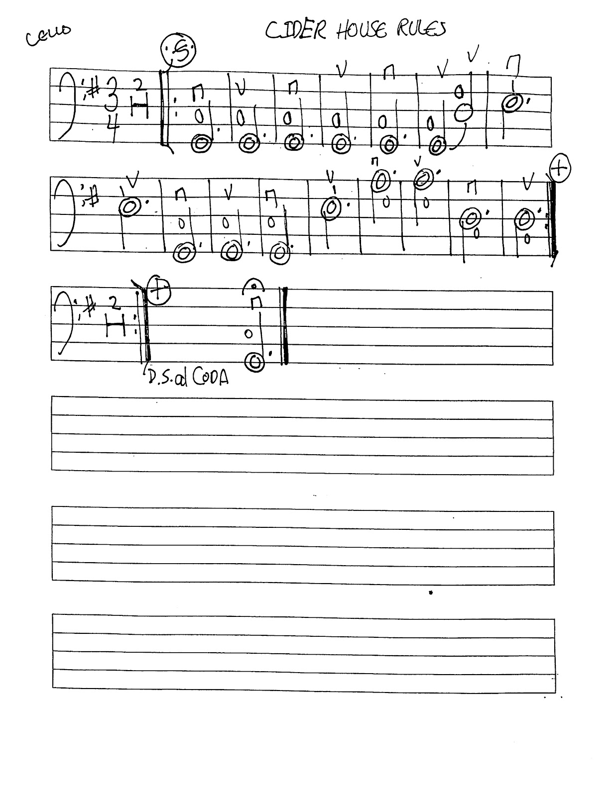 Miss Jacobson S Music Cider House Rules Worksheets