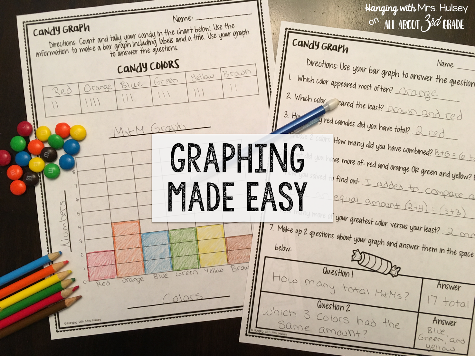 Graphing: Freebies and Fun Ideas!   All About 3rd Grade [ 1200 x 1600 Pixel ]