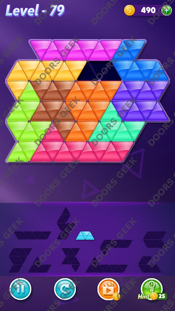 Block! Triangle Puzzle 10 Mania Level 79 Solution, Cheats, Walkthrough for Android, iPhone, iPad and iPod