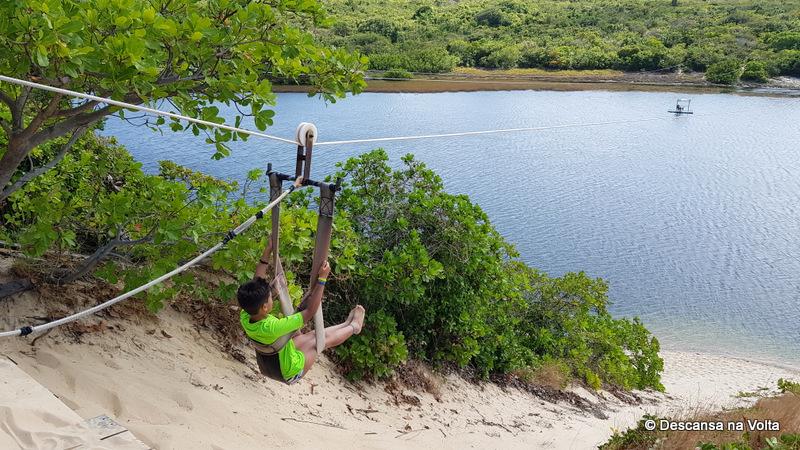 Aerobunda na Lagoa de Jacumã litoral norte de Natal RN
