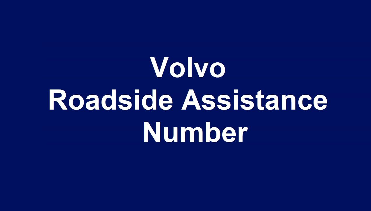 Volvo Roadside Assistance Numberr