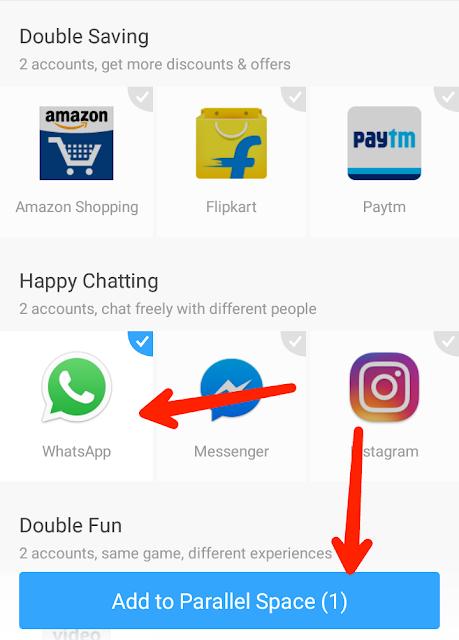 ek mobile me 2 whatsapp chalane wala app