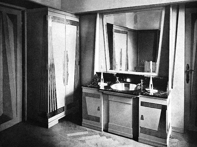 Peter Behrens interior design, 1901 photograph, a secession bathroom