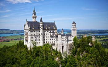Wallpaper: Travel. Neuschwanstein Castle. Disney Castle