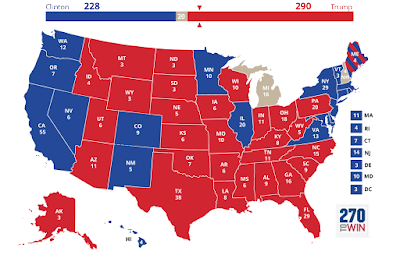 US Elections 2016 results