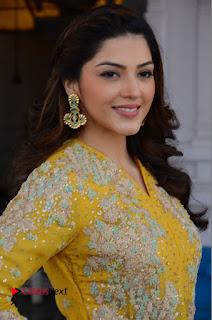 Actress Mehrene Kaur Stills in Yellow Long Dress at Sundeep Kishan New Movie Opening .COM 0013.JPG