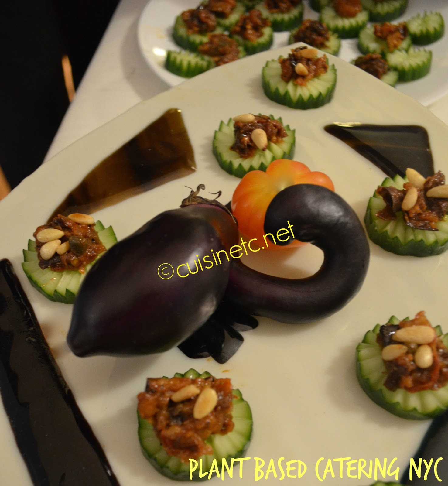 Cuisinetc a culinary journey via catering vegan plant for Aubergine cuisine