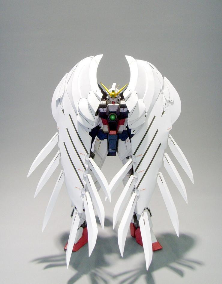 SD Wing Gundam Zero Custom Gundam Papercraft