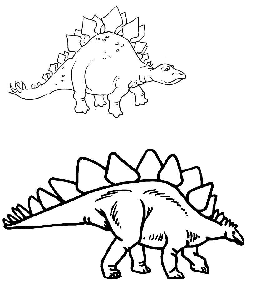 Dinosaurios Para Colorear Stegosaurus Para Colorear