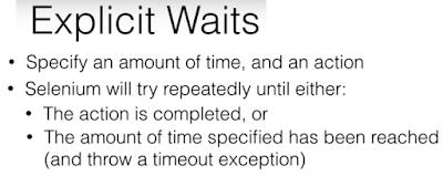 WebDriver Explicit Waits