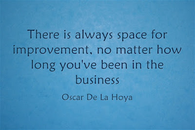 Oscar De La Hoya Continuous Improvement quotation
