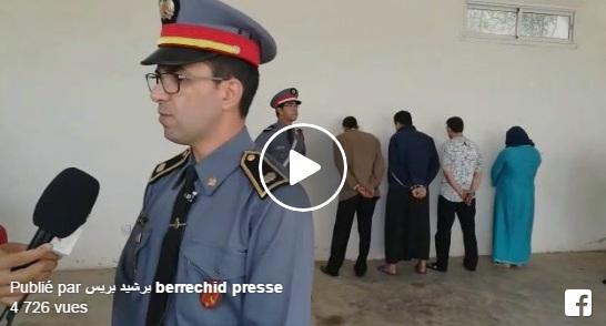 تصريح القائد الإقليمي للدرك الملكي ببرشيد حول العصابة التي تم القاء القبض عليها