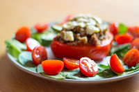 Vegetarian Haggis-Stuffed Peppers Recipe, www.imogenmolly.co.uk
