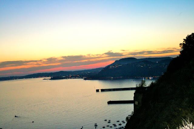 mare, acqua,tramonto, cielo, monti