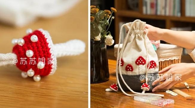 Вот такую замечательную сумочку-мешок с аппликацией можно создать своими руками (2)