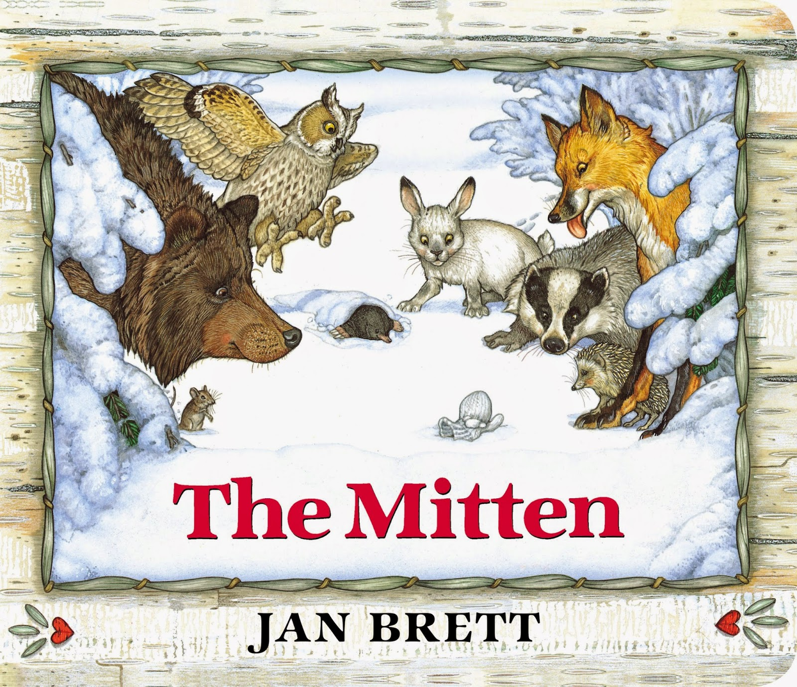 It's just a photo of Shocking The Mitten Printable Book