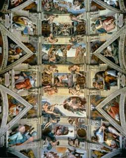 Sistine Chapel ceiling and lunettes - Michelangelo (Buonarroti)