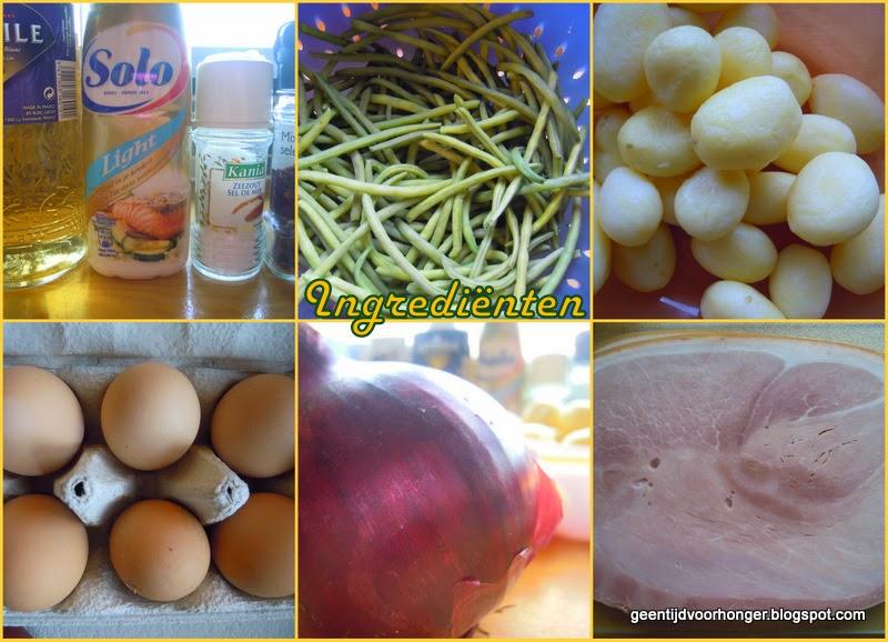 Ingrediënten voor de boontjessalade