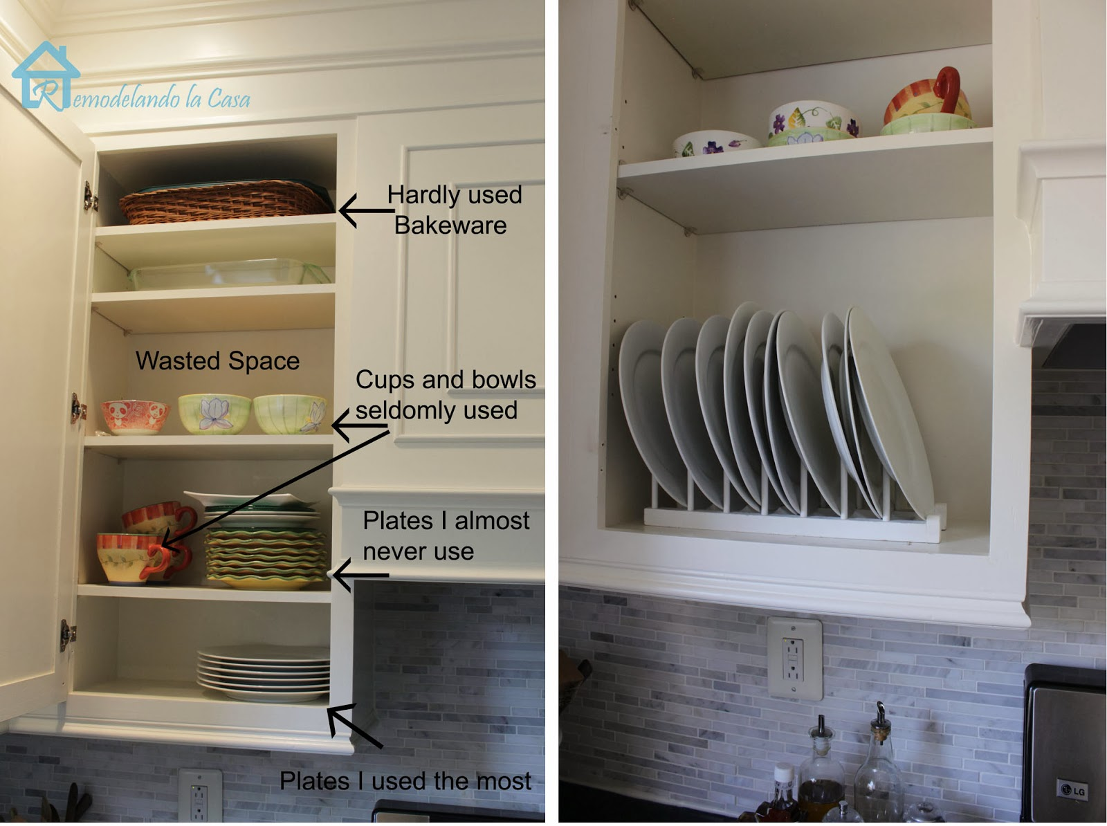 Diy Inside Cabinet Plate Rack