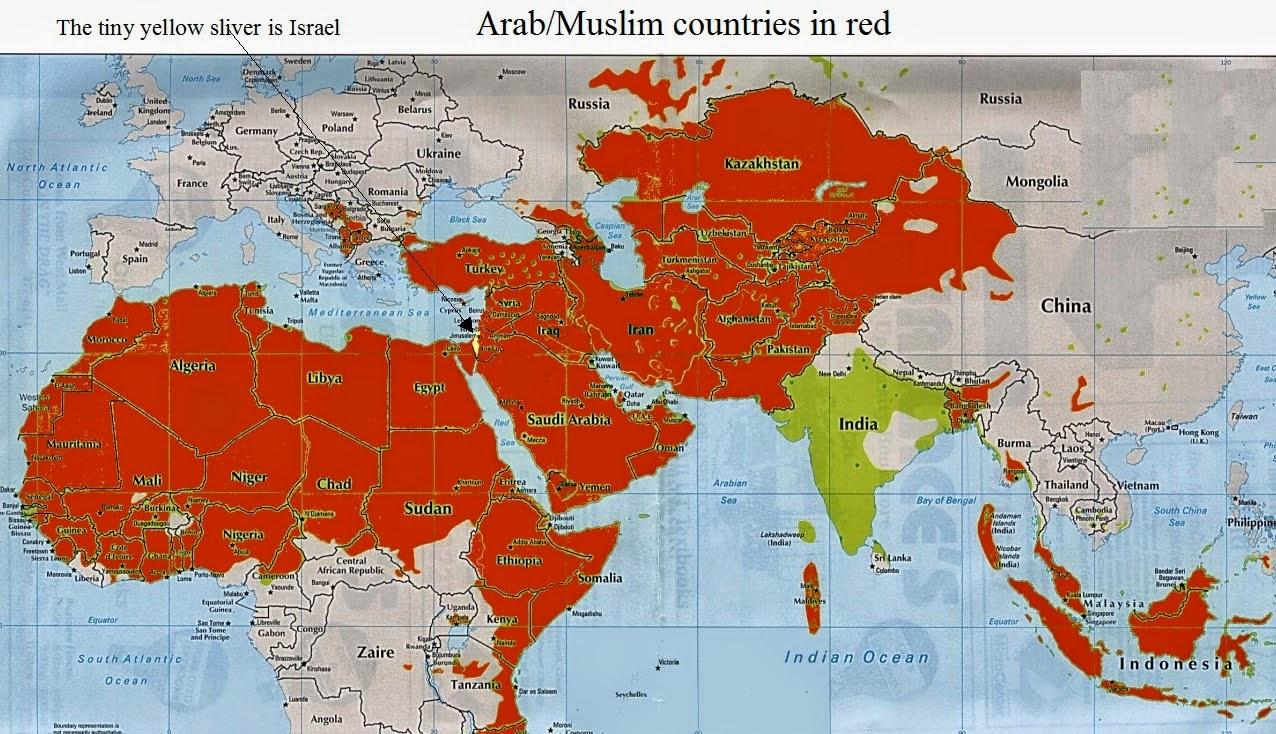 Resultado de imagem para mundo muçulmano contra israel