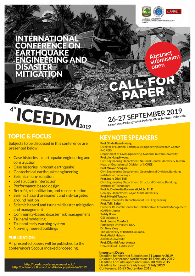 International Conference on Earthquake Engineering and Disaster Mitigation