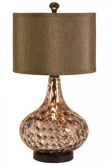 This gold lamp is 60s style and great for any space.