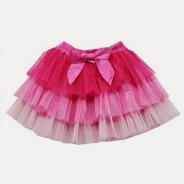 Contoh model rok tutu skrits untuk anak pink