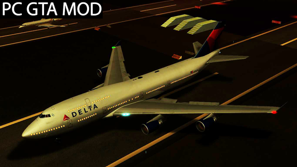 Free Download  Delta Air Lines Boeing 747-400  Mod for GTA San Andreas.