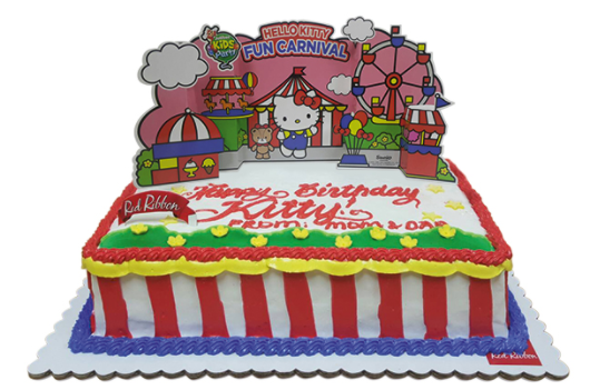 Birthday cake for Jollibee Party Theme - Hello Kitty Fun Carnival