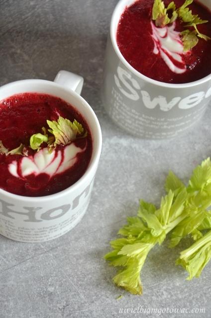Zupa krem z buraka
