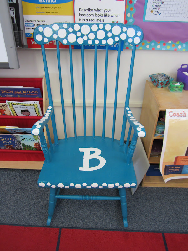 teacher rocking chair sure fit dining covers canada bits and bobs a makeover plus some school supplies