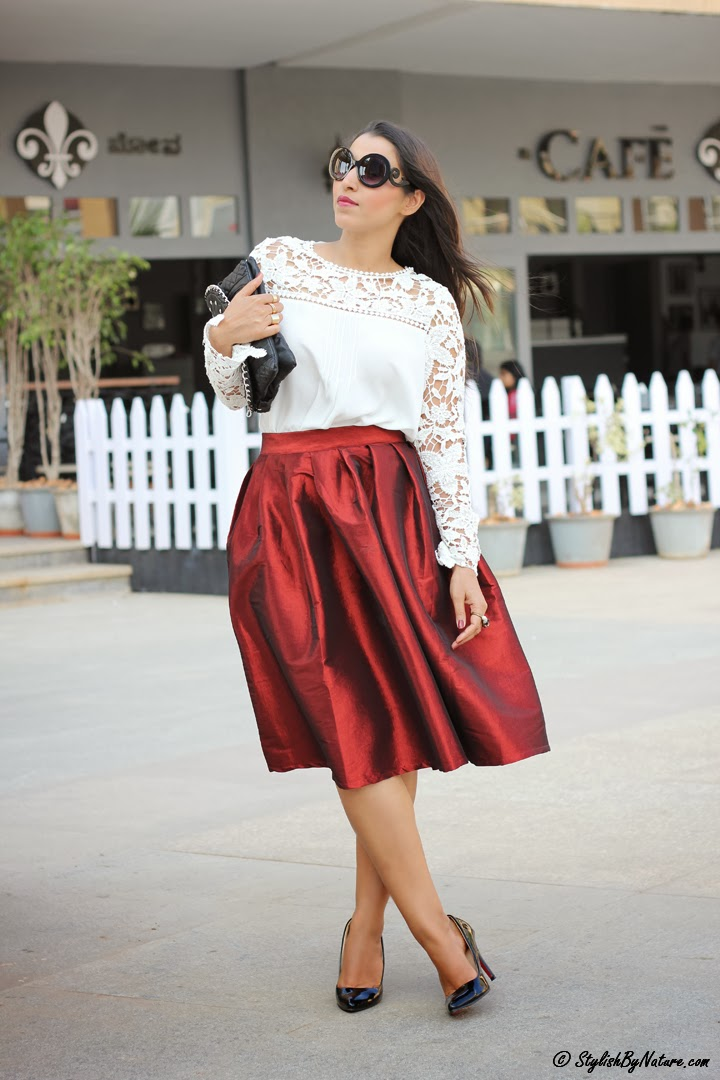 Fall Fashion Trend Ladylike Full Skirt