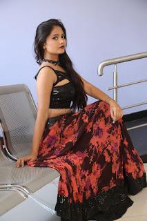 Shriya Vyas in a Tight Backless Sleeveless Crop top and Skirt 52.JPG