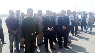 استقبال جثامين شهداء الواجب بمطار سوهاج