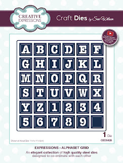 Creative Expressions Expressions Collection Alphabet Grid Die CED5428
