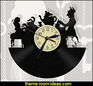 Alice in Wonderland Wall Clock Mad Tea Party Clock