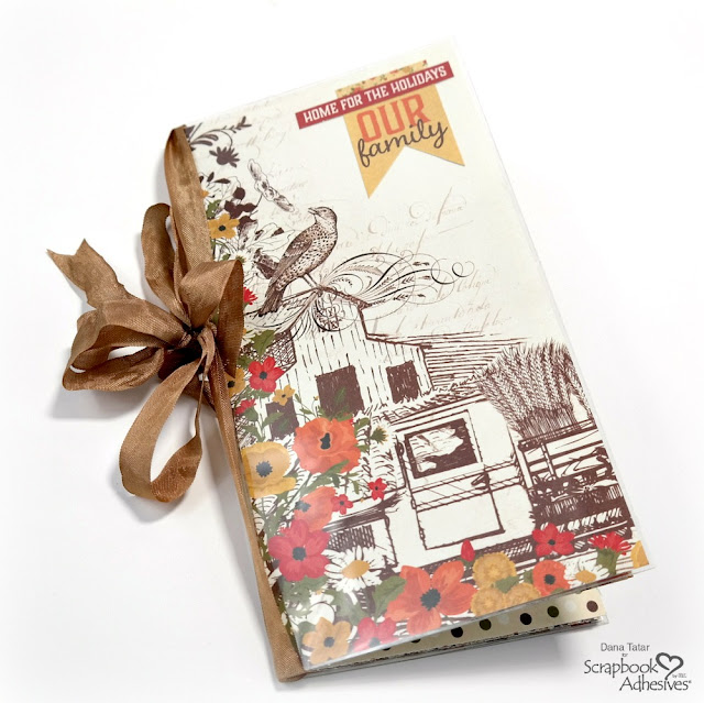 Thanksgiving Traveler's Notebook created with the Authentique Pleasant Collection