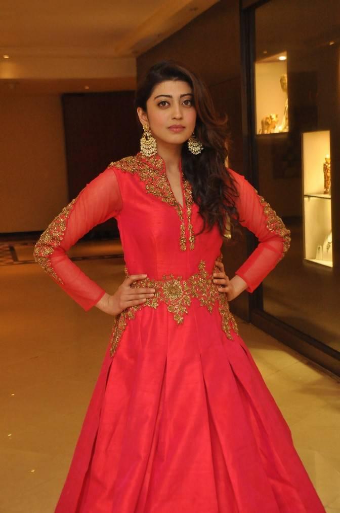 Pranitha Subhash Stills In Red Dress At Fashion Show