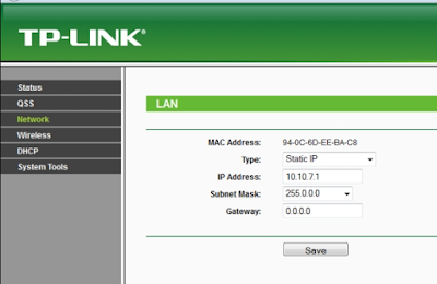 setting network