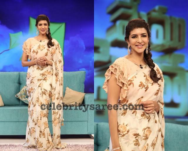 Lakshmi Manchu Floral Sari by Aria